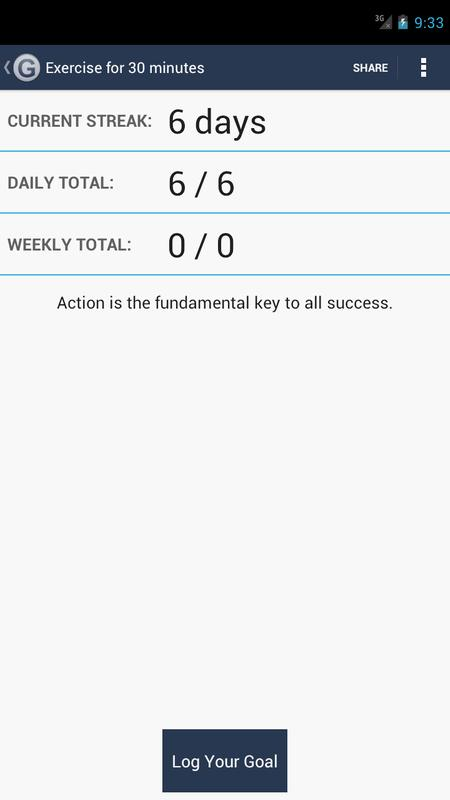 daily goal tracker log poster daily goal tracker log apk screenshot