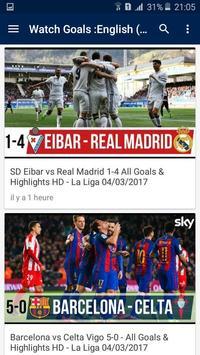 اهداف و ملخصات المباريات apk screenshot