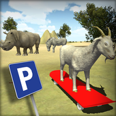 Goat Parking : Animals SkateBoard Driving icon