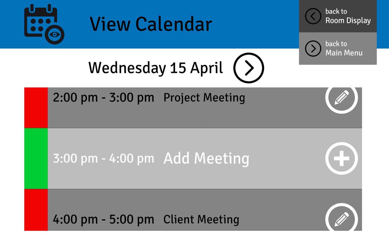 Office  Meeting Room Calendar Details