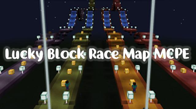 Lucky Block Race for MCPE 2018 poster