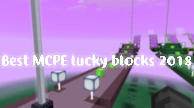 Lucky Block Race for MCPE 2018 apk screenshot