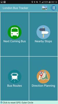 London Bus & Tube Tracker poster