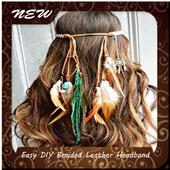Easy DIY Braided Leather Headband icon