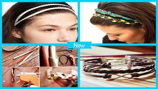 Easy DIY Braided Leather Headband poster