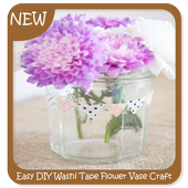 Easy DIY Washi Tape Flower Vase Craft icon
