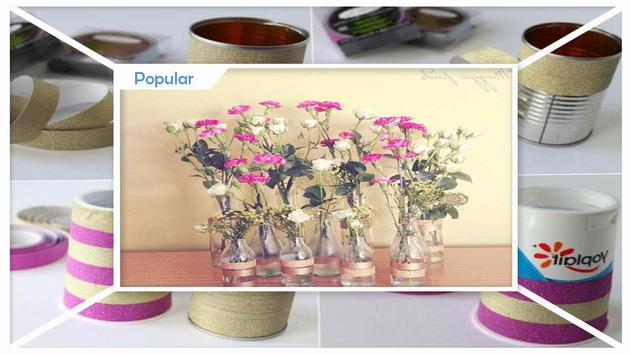 Easy DIY Washi Tape Flower Vase Craft screenshot 3
