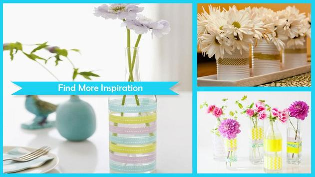 Easy DIY Washi Tape Flower Vase Craft screenshot 1