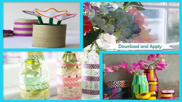 Easy DIY Washi Tape Flower Vase Craft screenshot 2