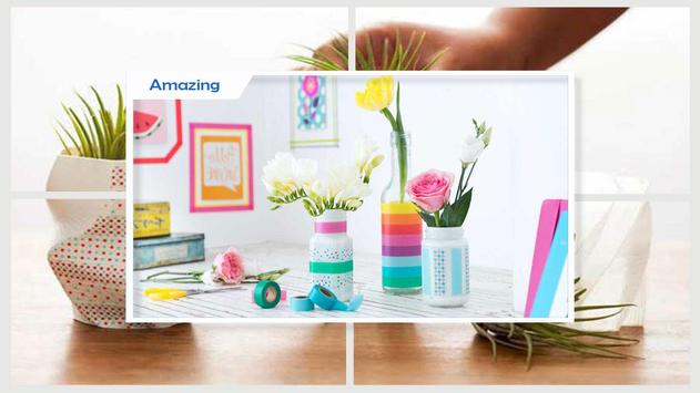 Easy DIY Washi Tape Flower Vase Craft screenshot 4