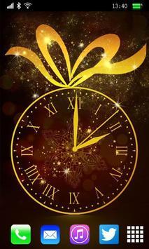 Gold Clock Live Wallpaper poster