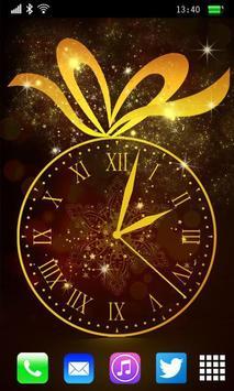 Gold Clock Live Wallpaper screenshot 1