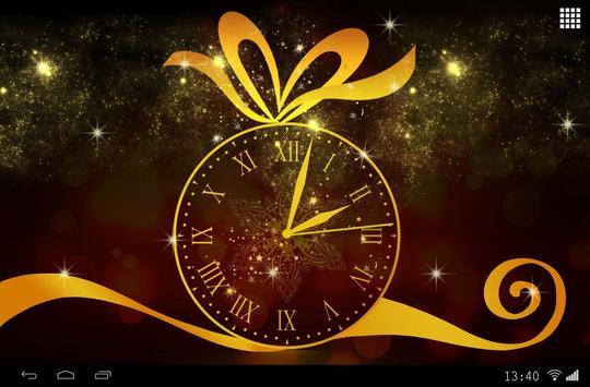 Gold Clock Live Wallpaper screenshot 2