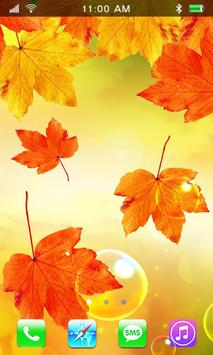 Leaves Falling Free Live Wallpaper poster