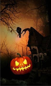 Black Halloween live wallpaper poster