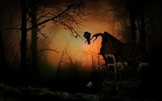 Black Halloween live wallpaper screenshot 3