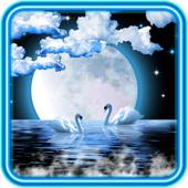 Swans Moon Night LWP icon