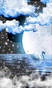 Swans Moon Night LWP screenshot 2