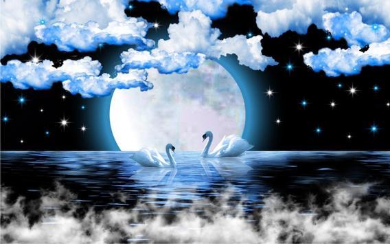Swans Moon Night LWP screenshot 5