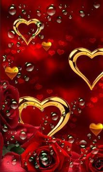 Rose Gold Hearts LWP screenshot 1