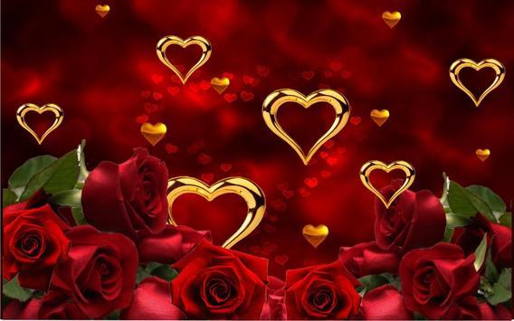 Rose Gold Hearts LWP screenshot 3