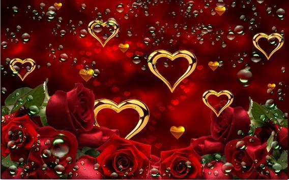 Rose Gold Hearts LWP screenshot 4