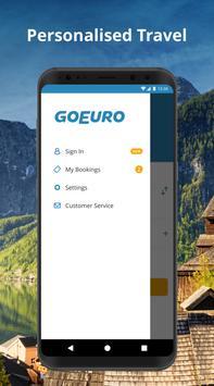 GoEuro: trenes, buses y vuelos captura de pantalla de la apk