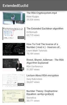 Extended Euclidean Algorithm apk screenshot