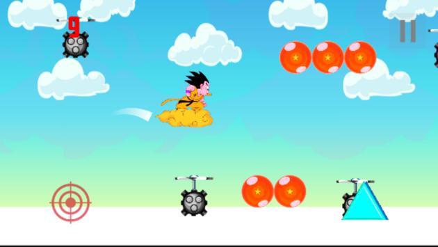 Super Goku Flying Adventures apk screenshot