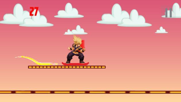 Saiyan Goku skater apk screenshot