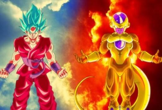 Goku Vs Golden Frieza Wallpaper Poster