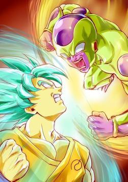 Goku Vs Golden Frieza Wallpaper Poster Screenshot 1