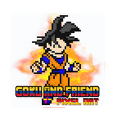 Goku And Friends pixel art coloring by number icon