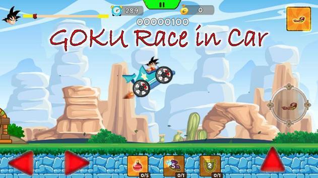 Super Goku Saiyan Car Dragon screenshot 2