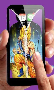 Goku Saiyan Zipper Lock screenshot 1