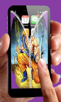 Goku Saiyan Zipper Lock screenshot 2