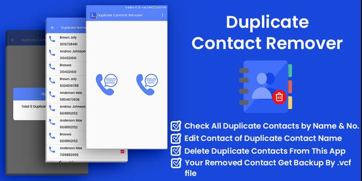 Duplicate Contact Remover - Contacts Optimizer poster