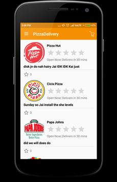 PizzaDelivery apk screenshot