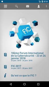 FIC Forum Cybersécurité poster