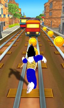 Subway Vegeta Run Dragon apk screenshot