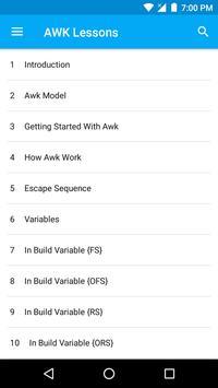 AWK - Lessons screenshot 5