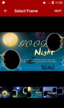 Night Dual Photo Frames poster