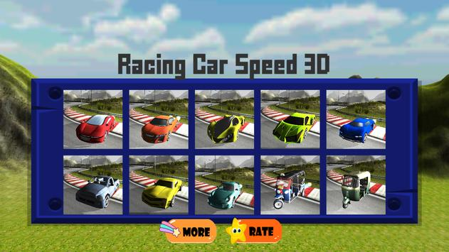 Racing Car Speed 3D poster