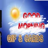 Good morning Gif & cards icon