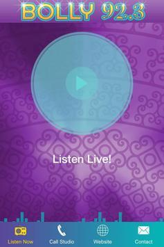 Bolly 92.3 FM captura de pantalla 1