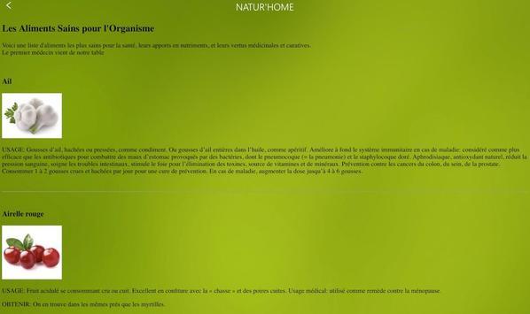 NATUR'HOME, l'application santé au naturel screenshot 21
