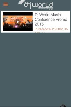 DJ WORLD MUSIC CONFERENCE apk screenshot