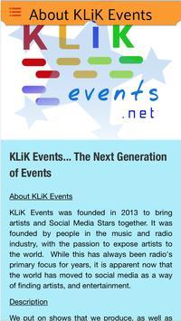 KLiK Events screenshot 4