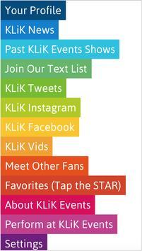 KLiK Events poster