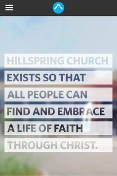 Hillspring Church poster